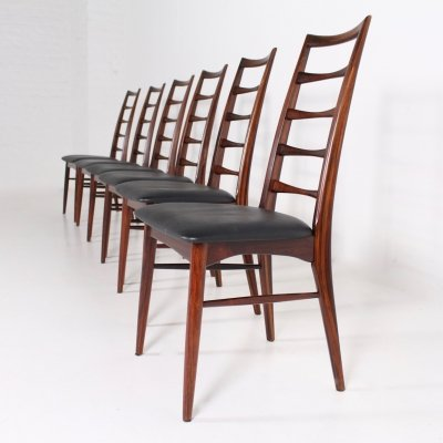6 rosewood dining chairs by Niels Kofoed