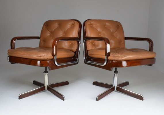 Pair of Mid-Century Modern Office Chairs by AG Barcelona, 1970's