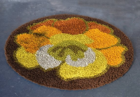 Round Vintage Carpet by Desso, Netherlands 1960s