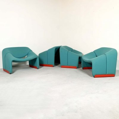 4 x F598 Groovy Chair by Pierre Paulin for Artifort, 1970s