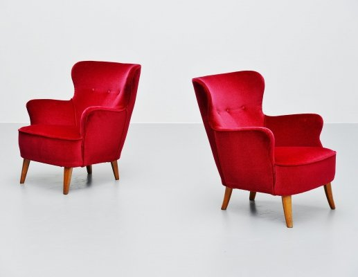 Pair of Theo Ruth lounge chairs for Artifort, 1955