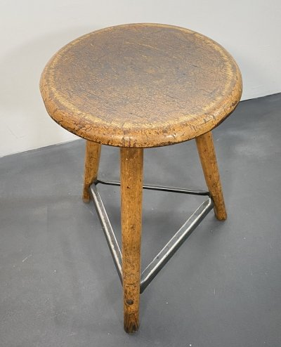 Three-legged Workshop Stool by AMA, 1930s