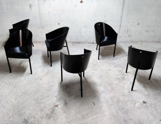 Set of 6 Vintage Costes Chairs by Philippe Starck for Driade, 1980s