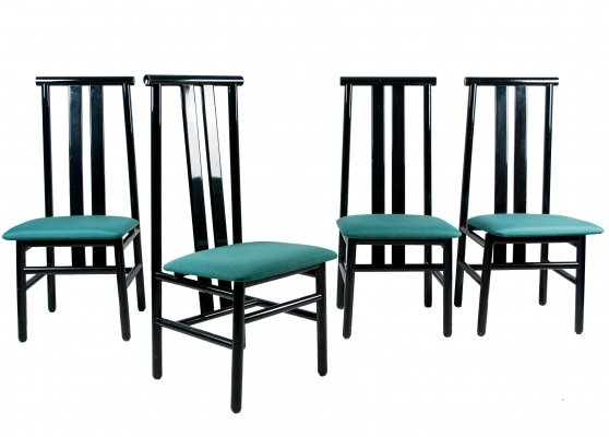 Set of 4 Zea Chairs by Annig Sarian for Tisettanta, 1980's