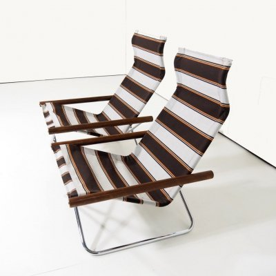 1958 deckchairs by Takeshi Nii for Jox Interni, Italy