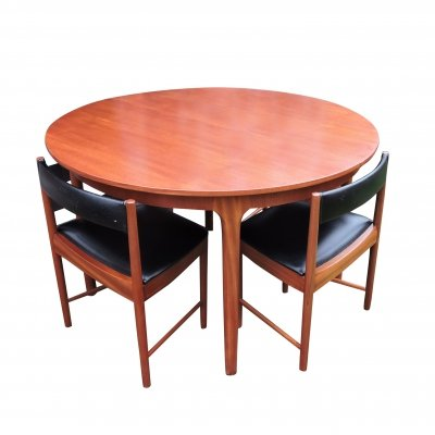McIntosh Dining Table with Four Chairs, 1960s