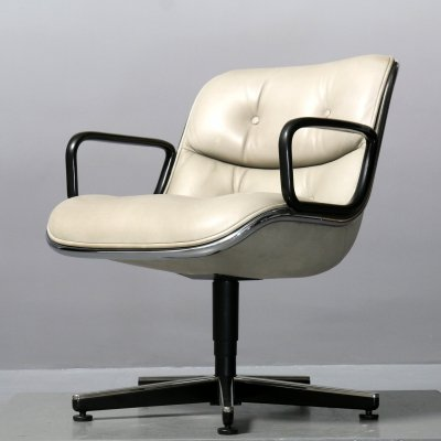 2 x Executive arm chair by Charles Pollock for Knoll, 1980s