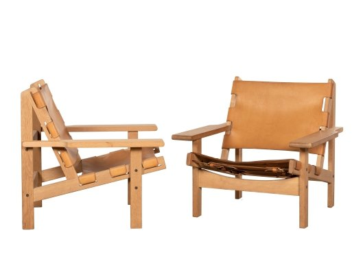 Pair of Hunting Chairs by Kurt Østervig for Jørgensens Møbelfabrik, 1970s