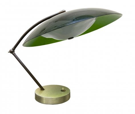 1950's Green Table Lamp by Stilux Milano