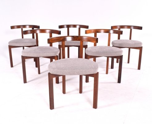 Rare Rosewood Model 193 Dining Chairs by Inger Klingenberg for Cado