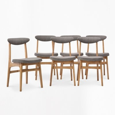 Set of 6 type 200-190 chairs by R. T. Hałas