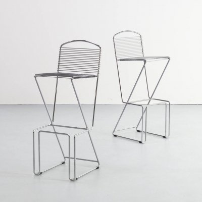 Pair of Till Behrens barstools for Schlubach, 1980s