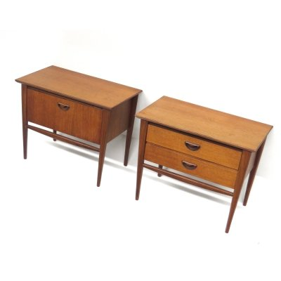 Set of two vintage bedside tables by Louis van Teeffelen for Wébé