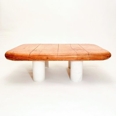 Wood & Marble Coffee Table, 1970's