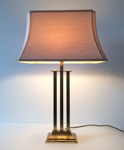 Hollywood Regency Style Large Brass Table Lamp, 1970's