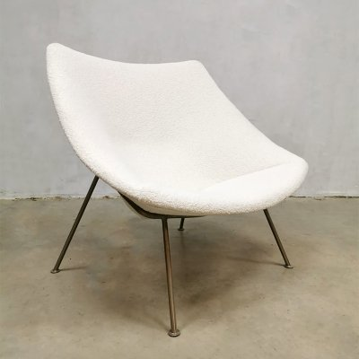 Midcentury F156 Oyster lounge chair by Pierre Paulin for Artifort, 1960s