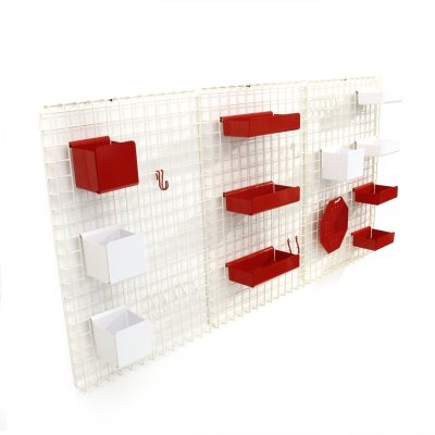 Set of 3 Postmodern wall unit by Boccato, Gigante, Zambusi for Seccose, 1980s