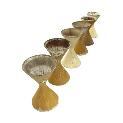 Midcentury modern Diablo planters by Willy Guhl for Eternit SA, 1950s