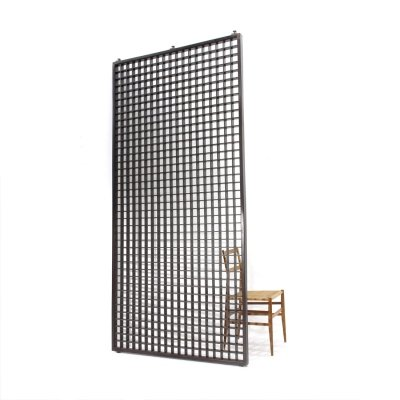 Midcentury wood grate partition by Gianfranco Frattini for Cantieri Carugati, 1960
