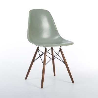 Seafoam Herman Miller Original Vintage Eames DSW Side Chair