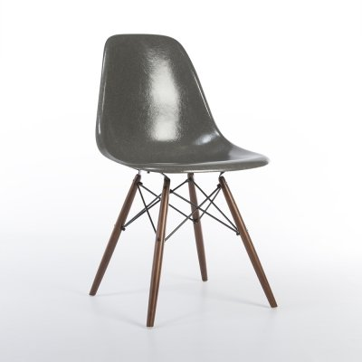 Elephant Grey Herman Miller Original Vintage Eames DSW Side Chair