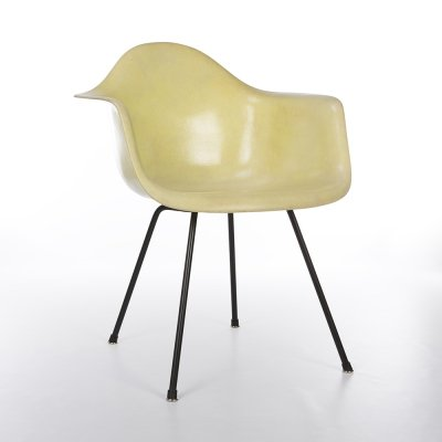 Yellow 1st Generation Zenith Vintage Original Eames DAX Dining Arm Chair
