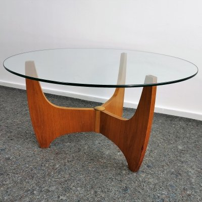 Mid-Century Teak Veneer Coffee Table