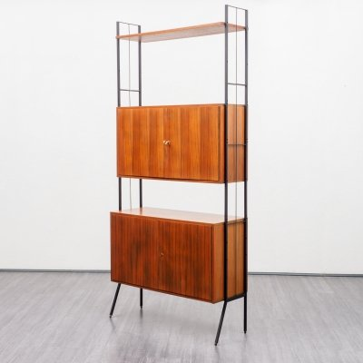 Vintage Mid Century Freestanding walnut shelving unit