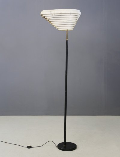 Alvar Aalto 'Angel Wing' Model A805 MidCentury Floor Lamp, 1954