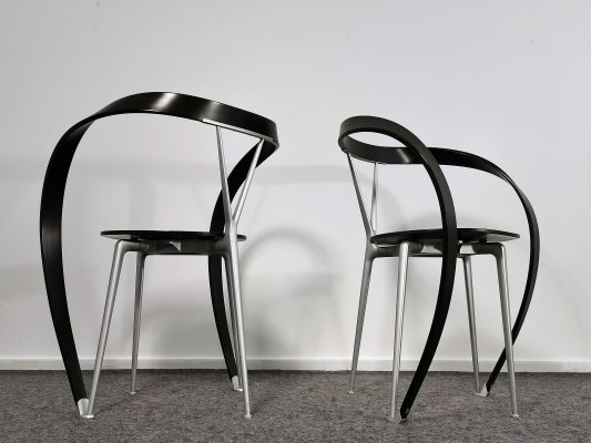 Pair of Andrea Branzi 'Revers' Chairs for Cassina, 1990's