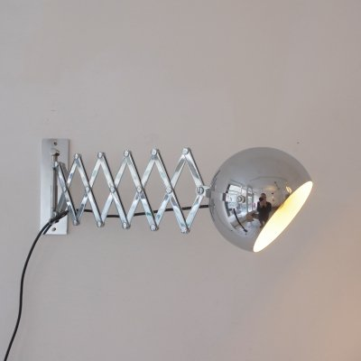 Scherenlampe wall lamp by Dorothee Maurer Becker & Ingo Maurer for Design M, 1960s