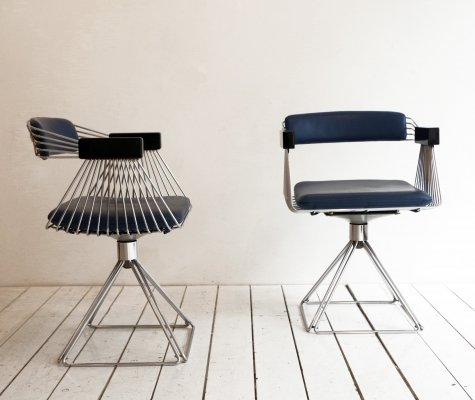 Pair of Delta dining chairs by Rudi Verelst for Novalux Belgium, 1970s