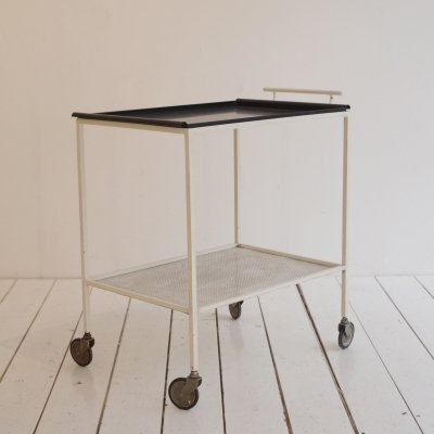 Biarritz serving trolley by Mathieu Matégot for Artimeta, 1950s