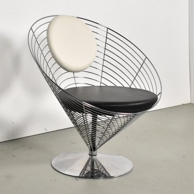 Verner Panton for Fritz Hansen Wire cone chair, 1990s