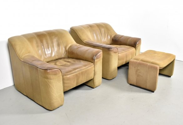 Pair of DS44 lounge chairs by De Sede, 1970s