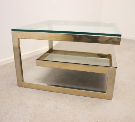 Goldplated coffee table by Belgo Chrom, 1970s