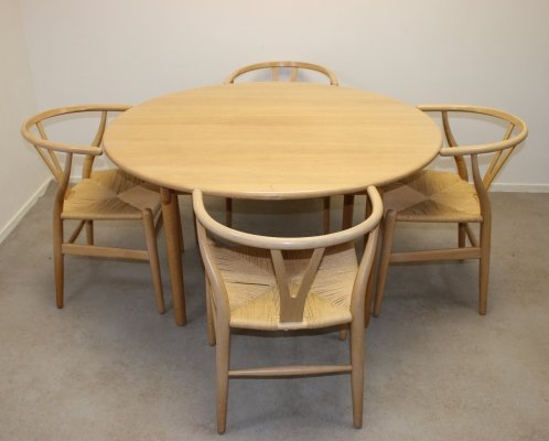 CH338 table / CH24 chairs dining set by Hans Wegner for Carl Hansen & Søn, 1960s