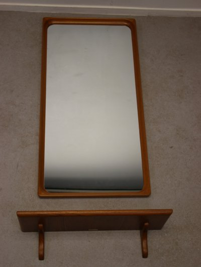 Rectangular wall mirror from Markaryd Glas Master, Denmark 1970s