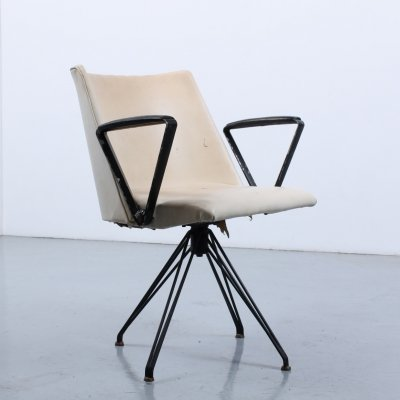 Rare Osvaldo Borsani for Tecno P99 desk swivel chair, 1950s