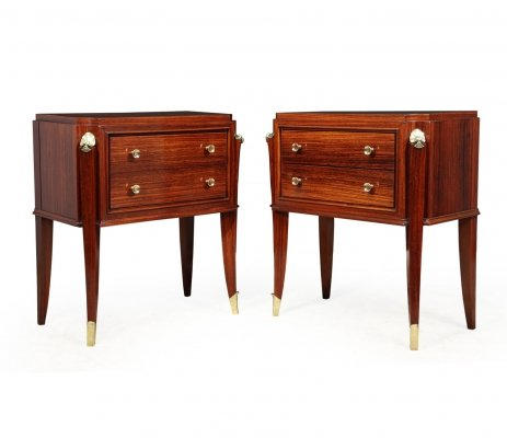 Pair of French Art Deco Bedside Chests, 1920s