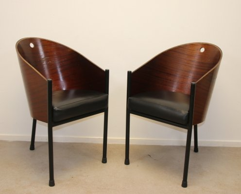 Pair of Costes chairs by Philippe Starck