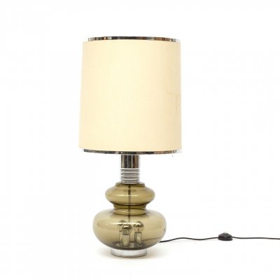 Table lamp in smoked glass by Doria Leuchten, 1960s