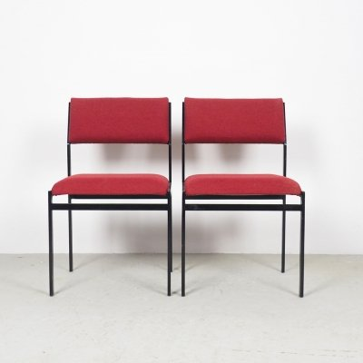 Pair of SM07 dining chairs by Cees Braakman for Pastoe, 1960s
