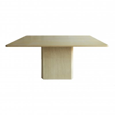 Hand Made Travertine Dining Table, Italy 1970s