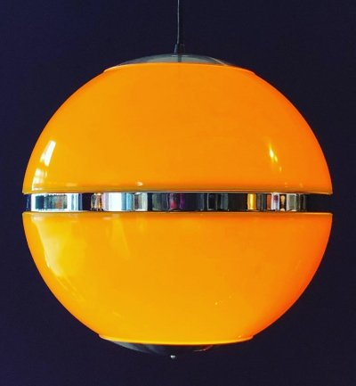 Space Age hanging globe lamp, 1970's