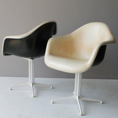 Rare set of two plastic (DAL) armchairs by Charles & Ray Eames, 1960s