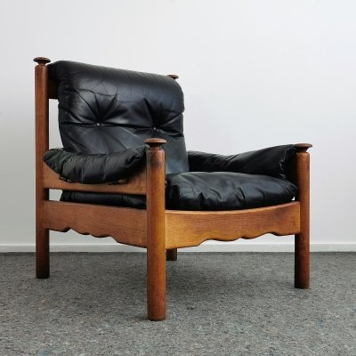 Mid-Century Oak Easy Chair by Beka Belgium