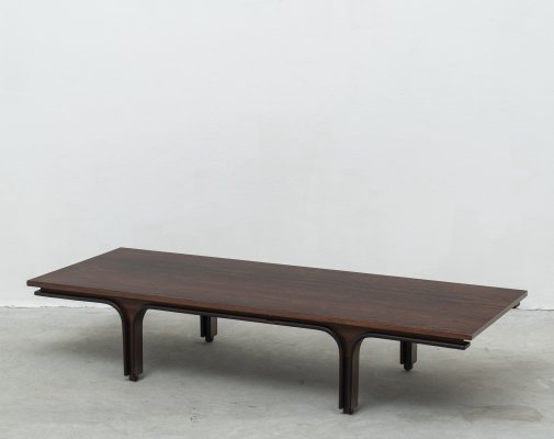 Rosewood Large Mod. 514 Low Table Gianfranco Frattini for Bernini, 1956