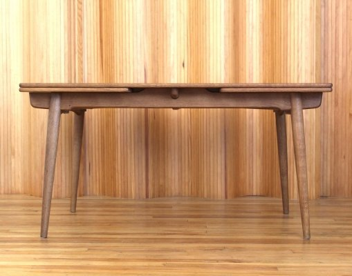 Hans Wegner extending oak 'model AT 312' dining table by Andreas Tuck