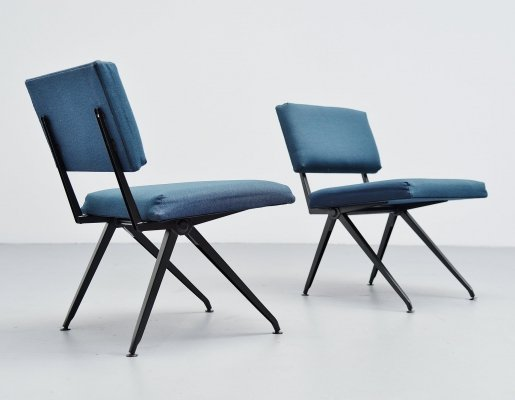 Pair of Ynske Kooistra for Marko industrial easy chairs, 1960s